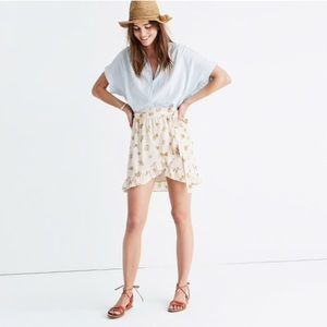 Madewell Silk Meadow Wrap Skirt